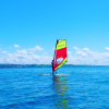 Windsurfer auf dem Bodensee in Konstanz