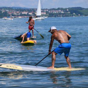 Stand Up Paddler auf dem Bodensee
