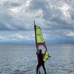 Windsurfschüler auf dem Bodensee
