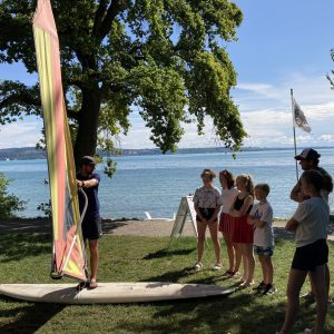 Windsurfkurs am Ufer